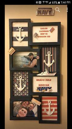 PIR door dec make for Willie. Military Crafts, Military Party, Navy Military, Military Cake, Navy Sister, Navy Girlfriend, Navy Mom, Navy Party, Go Navy