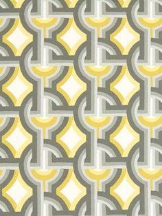 Modern Gray Yellow Upholstery Fabric by the by PopDecorFabrics, $32.00