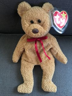 Curly TY Original Beanie Baby by HollywoodBeautyBar on Etsy
