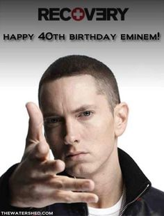 "Happy 40th Birthday to Eminem! ""Eminem, who battled an addiction to prescription drugs, thanked his fans at a New York concert for helping him get through dark times. The 39-year-old told hundreds Thursday night that he ""wouldn't have gotten out of that dark place without y'all"" before he performed the Grammy-winning song ""Not Afraid."" He said the performance was ""dedicated to anybody tonight who's been through personal struggles."" –Mesfin Fekadu, Huffington Post #Recovery #Eminem #hope"