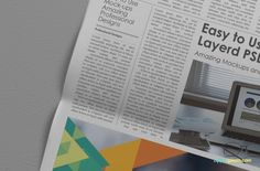 Free Beautiful Newspaper Ad PSD Mockup | ZippyPixels