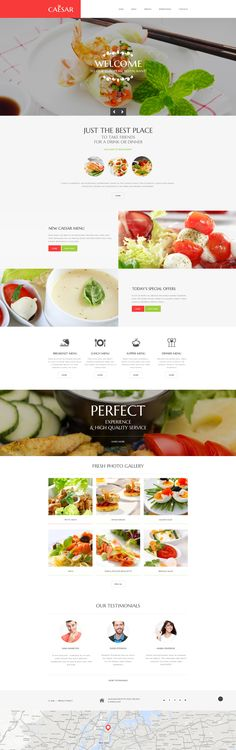 Cafe and Restaurant Responsive Website Template #58582