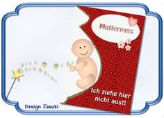 Mutterpass Hülle,Baby rot von Jasuki auf DaWanda.com