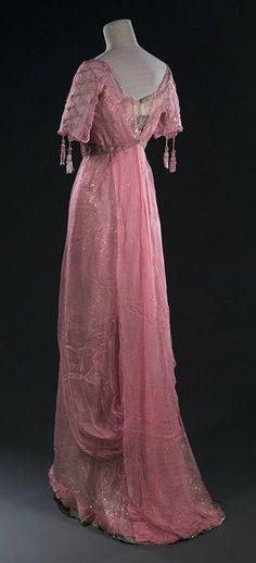 Pink Chiffon Gown, c. 1905.