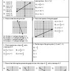 "This item is a handout consisting of 27 test questions.  Most are multiple-choice and the rest are free response.  It covers topics for ""Slope, Int..."