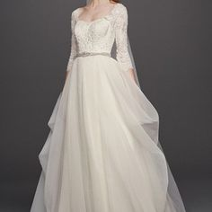 Organza Wedding Dresses Oleg Cassini Organza Sleeved Wedding Dress So I know this is more my style, but I wanted to include some different styles just in case. Wedding Dress Organza, Wedding Gowns With Sleeves, Wedding Dresses Plus Size, Wedding Dress Styles, Lace Wedding, Gown Wedding, Elegant Wedding, Wedding Gowns For Petite Women, Dress Lace