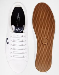 Fred Perry | Fred Perry Howells White Sneakers at ASOS