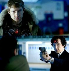 The sniper is aimed at Johns heart and at Sherlock's brain. Why ruin such beautiful things?
