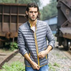 90% white duck down jacket men brand clothing High quality waterproof
