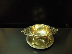 Vintage/Retro EPNS Tea Strainer with Drip Tray Early 20th Century