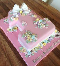 Number Cakes & Dessert Ideas For Single Digit Birthdays Number Birthday Cakes, 1st Birthday Cake For Girls, Baby Birthday Cakes, Birthday Parties, Number One Cake, Number Cakes, Cupcakes, Cupcake Cakes, Rosebud Cakes