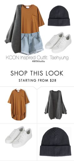 """""""Inspired Outfit for KCON: Taehyung"""" by btsoutfits ❤ liked on Polyvore featuring MTWTFSS Weekday, Topshop and Amanda Christensen"""