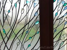 Stained, fused and leaded glass  with kiln formed glass