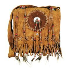 Leather Feather Fringe Messenger Bag on Sale for $29.95 at HippieShop.com