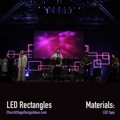 Center projection. LED Rectangles