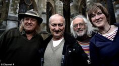 Axed: Archaeology programme Time Team, presented by Tony Robinson, second left, is being pulled from the schedules after 20 years after viewing figures fell to one million
