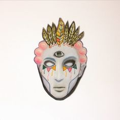 Chalk pastel floating head #art #floatinghead #face #chakpastel #doodle #illustration #trippy