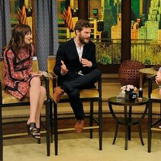 Jamie dornan and Dakota johnson live iwth kelly and michael