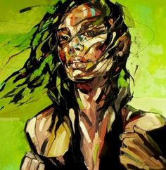 Anna Bocek. I seriously love the way she uses colors to really create the person's personality. This is beautiful