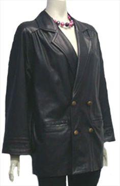 Accensi Black Leather Jacket $60