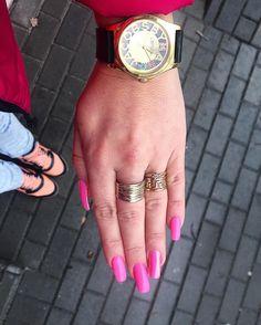 """Polubienia: 83, komentarze: 3 – Agata Siedlik (@agstyls) na Instagramie: """"Wiosno przybywaj 🌸🌸🌸#miłego popołudnia 😻#good #new #nails #likeforlike #ootd #longnails #pink…"""""""