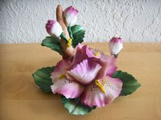 Capodimonte Purple Iris Porcelain Flower - Other