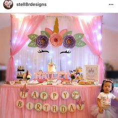TheCraftySagAnnie shared a new photo on Etsy Paper Flowers PDF Petal 155 Exquisite ROSE Flower Template Unicorn Themed Birthday Party, Unicorn Birthday Parties, First Birthday Parties, Birthday Party Decorations, Girl Birthday, Birthday Ideas, Party Centerpieces, Unicornio Birthday, Unicorn Baby Shower