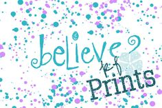 Nursery Decor Believe Wish Purple and Teal Word Art by KFPrints