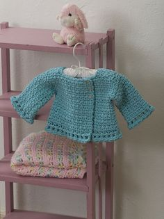 Little Princess Jacket by Tammy Hildebrand  Published in Crochet 1-2-3 Magazine, Issue #3