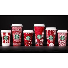 Starbucks' Red Christmas Cups for 2016 Probably Won't Offend Anybody... ❤ liked on Polyvore featuring home, home decor, holiday decorations, holiday decor, christmas holiday decorations, christmas holiday decor, holiday home decor and red home decor
