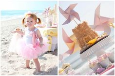 Sand Castle cake for beach birthday party - too cute!