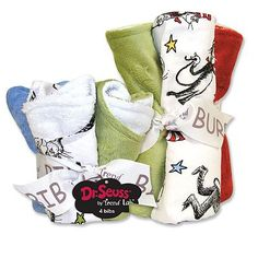 Trend Lab Dr. Seuss The Cat in the Hat 8-pc. Bib & Burp Cloth Set
