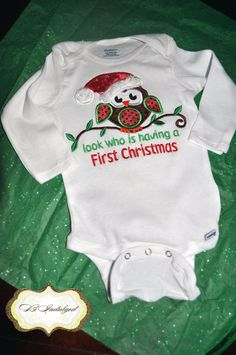Hey, I found this really awesome Etsy listing at http://www.etsy.com/listing/86259656/look-who-is-having-a-first-christmas