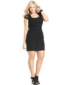 Ruby Rox Plus Size Dress, Cap-Sleeve Lace - Plus Size Dresses - Plus Sizes - Macy's
