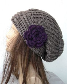 I want! Hand Knit Womens chunky knit Slouchy Beanie by Ebruk,.00...its no where near cold enough for long enough in FL tho :(