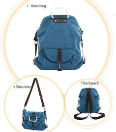 Cheap Fashion Multi-function Canvas Shoulder Bag & Backpack For Big Sale! Have this bag, it means you have four bags.it is a Fashion Multi-function Shoulder Bag . Lace Backpack, Backpack Bags, Leather Backpack, Cute Backpacks, Girl Backpacks, Canvas Backpacks, My Bags, Purses And Bags, Fashion Bags