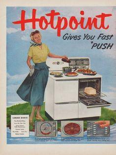 1950 HOTPOINT Vintage Print Advertisement