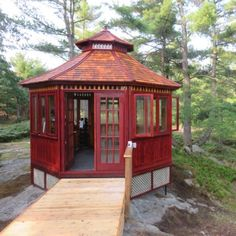 There are so many ways to use a gazebo: sunroom, spa enclosure/hot tub gazebo, or even a home gym! Outdoor Gazebos, Outdoor Structures, Hot Tub Gazebo, Gazebo Plans, Pool Cabana, Through The Window, Photo Search, Building Plans, Garages