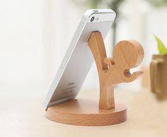 Wooden Phone Stand, Desktop Phone Holder, Phone Docking Station, Smartphone Stand, Phone Holder (cool gadgets to buy)