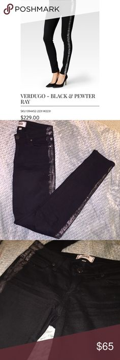 PAIGE Black Verdugo Ultra Skinny Jean EUC. Only worn less than 5X. No signs of wear and no stretching at the crotch area! See photos for specifications and ask if you have any questions :)  Make an offer! PAIGE Jeans Skinny