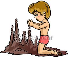 Clipart.com Closeup   Royalty-Free Image of beach,body,boy,building,castle,child,children,human,humans,individual,individuals,people,person,persons,sand,summer,vacation