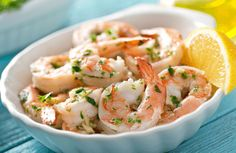 Absolutely no butter to be found in this healthy shrimp dish!