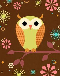 Night Owl Art Print by pictorialboom on Etsy