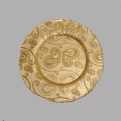 gold glass | products chargers by material glass gold paisley glass charger