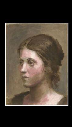 """Pablo Picasso - """" Portrait d'Olga """",  1923 - Huile sur toile - 27 x 22 cm (..)"""