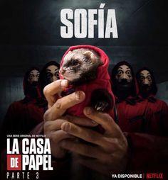 La Casa de Papel , Sofia - The Paper House Netflix And Chill, Shows On Netflix, Netflix Movies, Series Movies, Movies And Tv Shows, Tv Series, Pretty Little Liars, Psycho Tricks, Collage Mural