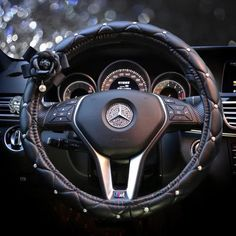Luxury Vegan Leather Steering wheel cover with Camellia – Carsoda Luxus Vegan Leder Lenkradbezug mit Camellia – Carsoda Volkswagen Amarok, Volkswagen Polo, Bling Car Accessories, Car Interior Accessories, Suv Bmw, Allroad Audi, Car Steering Wheel Cover, Steering Wheels, Girly Car