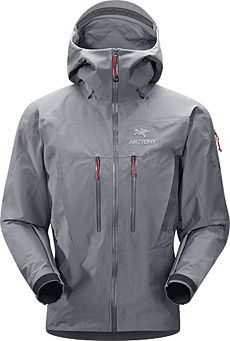 Ideal for severe weather conditions, the Arc'teryx Alpha SV ($600) is one tough jacket. Made with waterproof and breathable Gore-Tex Pro material, the lightweight shell keeps even the burliest of winds out. It features a drop-back hem for rear coverage, a high collar and helmet-compatible hood, water-tight zippers, underarm zips for ventilation, and harness HemLock for hardcore climbing.