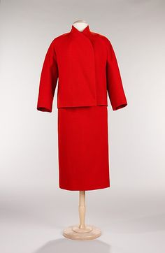Christian Dior (French, 1905–1957). Dinner suit, fall/winter 1955. House of Dior  (French, founded 1947). The Metropolitan Museum of Art, New York. Brooklyn Museum Costume Collection at The Metropolitan Museum of Art, Gift of the Brooklyn Museum, 2009; Gift of Henry Rogers Benjamin, 1965 (2009.300.361a–c)