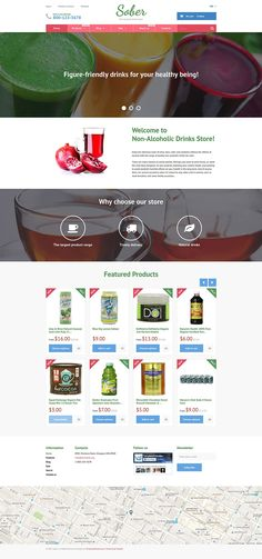 19+ Awesome Themes for Selling Beverages/Drinks (Coffee, Tea, Alcohol Store Shopify Themes) - Sober (theme) Item Picture